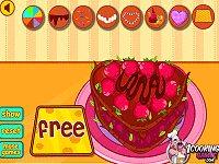 Cute heart cake