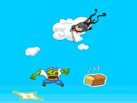 Super Ninja Skydiving Plus Zombies