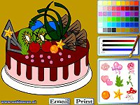 Chocolate cake colouring