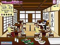 Waitress In A Japanese Restaurant